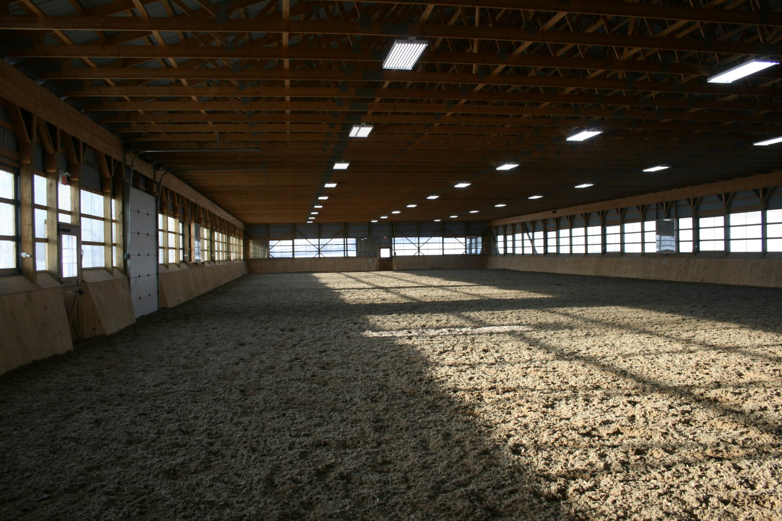 Riding Arena with custom arena footing