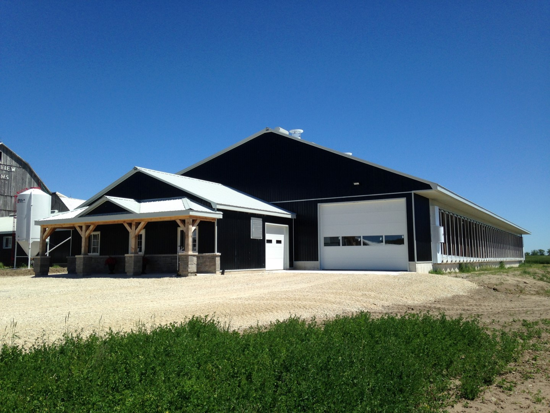 Robotic dairy barns dairy barns ontario post farm for Pole barns ontario